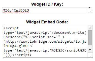 ioBridge Widget ID